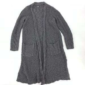 Knitted And Knotted Gray Duster Sweater
